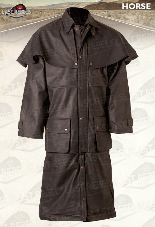 manteau australien cuir horse buffle skipper marron. Black Bedroom Furniture Sets. Home Design Ideas