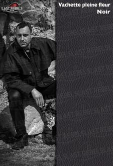 3/4 australien cuir homme vachette pleine fleur noir