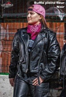 Motorcycle buffalo leather perfecto HOND for woman
