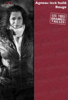 Urban style plus size leather jacket red color for woman