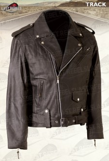 Perfecto motorcycle leather jacket TRACK for man brown color