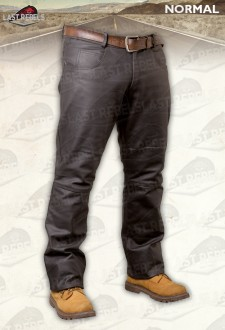 Brown leather trousers NORMAL buffalo skipper style jeans for man