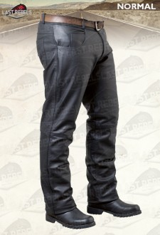 Black leather Trousers style Jeans for man buffalo leather