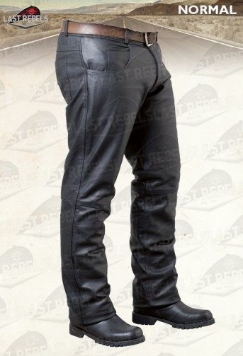 Pantalon cuir buffle noir coupe jeans
