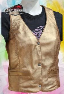 Chaleco LADY 99 Cobre piel de cordero semi anilina