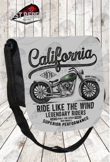 "Besace imprimé vintage ""ride like the wind"""