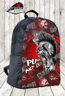 "Sac à dos imprimé ""Punks not dead"""