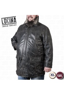 Buffalo leather coat for men, Plus size, NINO 1866
