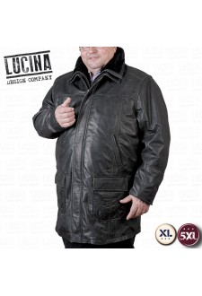 Buffalo leather coat for men, Plus size, NINO 1867