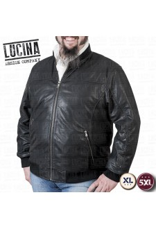 Buffalo leather jacket for men, Plus size, NINO 1870