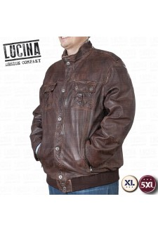 Leather jacket for men, Plus size, NINO 1876