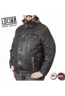 Plus size leather jacket for men in clearance sale