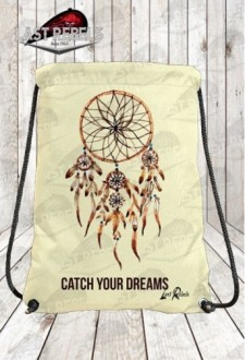 "Sac à dos à corde imprimé indien ""Catch your dreams"""