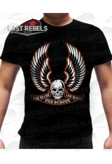 T-shirt biker Ride to Live