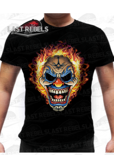 T-shirt biker Clown diabolique