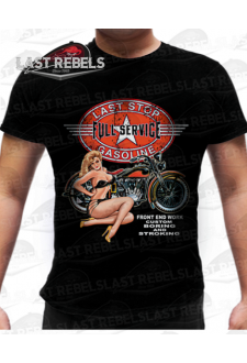 T-shirt biker Pin-Up Vintage