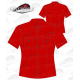 Chemise Country femme manches courtes 100% coton rouge
