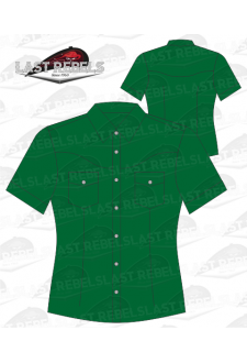 Chemise Country verte - Manches courtes