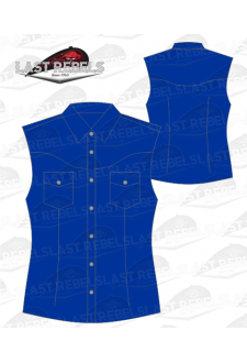Chemise Country bleu marine - Sans manches