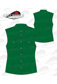 Chemise Country verte - Sans manches