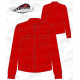 Camisa country hombre manga larga 100% algodón roja
