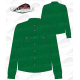 Camisa country hombre manga larga 100% algodón verde