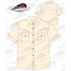 Chemise Country homme manches courtes 100% coton beige