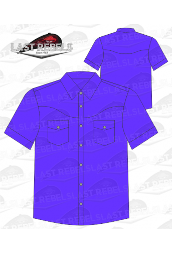 Chemise Country violette - Manches courtes