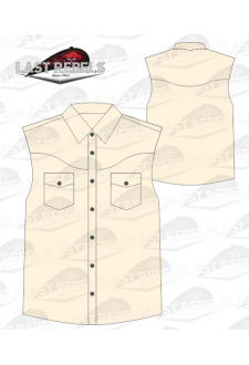 Chemise Country beige - Sans manches