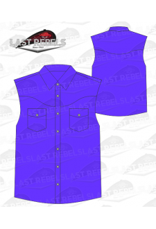 Chemise Country violette - Sans manches