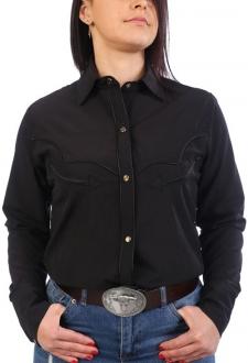 Chemise western cowboy femme noire