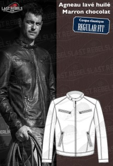 Urban Sheep leather jacket brown color for man