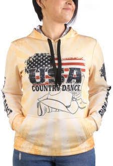"Sweat capuche zippé ""Country-Dance"""