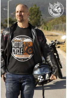 T-shirt Vintage noir Custom Motorcycle