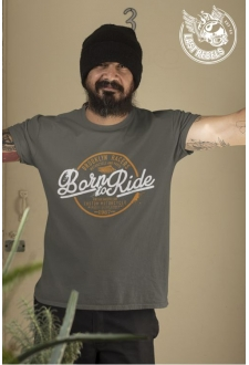 T-shirt Vintage kaki Born to Ride
