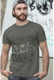 T-shirt Vintage kaki California Ride