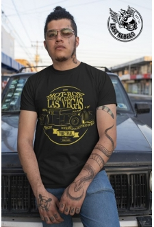 TSHN 1011 // T-shirt Hot Rod noir Last Vegas