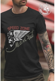 TSHN 1016 // T-shirt Kustom Kulture noir Speed Zone