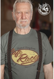 TSHK 1024 // T-shirt Vintage kaki Cafe Racer