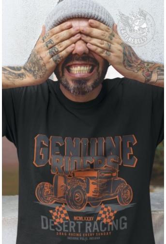 TSHN 1029 // T-shirt Hot Rod noir Guenine Riders