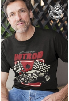 TSHN 1030 // T-shirt Hot Rod noir Custom Shop