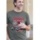 TSHK 1030 // T-shirt Hot Rod kaki Custom Shop