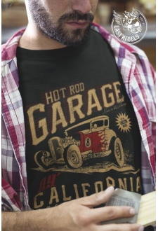 TSHN 1028 // T-shirt Hot Rod noir Garage